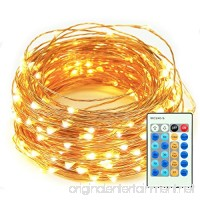 LED String Lights 33ft 100 LEDs Amysen Dimmable Waterproof Decorative String Lights for Patio  Bedroom  Garden  Wedding  Party  Holidays (Copper Wire Lights  Warm White) - B07CVRTTTY