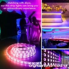 LED Strip Lights LED Lights Sync To Music 16.4Ft/5M LED Light Strip 300 LED Lights SMD 5050 Waterproof Flexible RGB Strip Lights IR Controller+12V 3A Power By DotStone - B06Y15YVFN