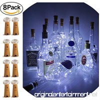 LoveNite Wine Bottle Lights with Cork  8 Pack Battery Operated 15 LED Cork Shape Silver Wire Colorful Fairy Mini String Lights for DIY  Party  Decor  Christmas  Halloween Wedding (Cool White) - B07BLR18NP