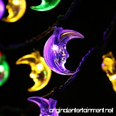 LUCKLED Solar String Lights 20ft 30 LED Moon Lights With Light Sensor for Christmas Outdoor Gardens Homes Wedding Christmas Party and Holiday Decor(Multi-Color) - B00VX7H0VQ