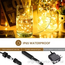 Mpow LED String Lights with Remote Control 33ft 100LED Waterproof Decorative Lights Dimmable Copper Wire Lights for Indoor and Outdoor Bedroom Patio Garden Wedding Parties (Warm White) - B01G4YX2QY