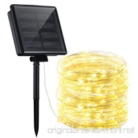 Mpow Solar String Lights 72ft 200LED Outdoor String Lights 8 Modes Waterproof Decorative Fairy String Lights for Patio Lawn Garden Party Wedding Christmas (Warm White) - B07BHGSFM6