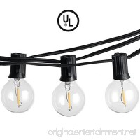 Newpow Dimmable LED Outdoor Indoor String Lights 23Ft  G40 Globe Bulbs  Edison Style Patio String Lamp for Cafe Bistro Garden Porch Backyard Party Yard Christmas  USA UL Listed - Black - B074T8VH6J