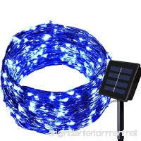 Outdoor Solar String lights - Dolucky 150 LED Waterproof Copper Wire Lights for Garden Decoration Blue - B01EHQWW0I
