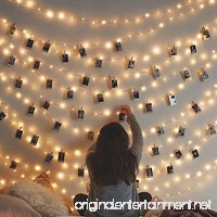 Photo Clips Lights  Fairy 30 LED lights battery operated String Lights for Hanging Artwork Photos Memos and Paintings  for bedroom  dorm  home décor (Warm White  picture photo string lights) - B07DCG7N9L