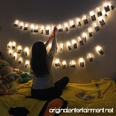 Photo clips string lights Battery Powered 20 LED 10ft Warm white Lights for Bedroon Wedding Party Christmas Propose Indoor Home Decor Lights for Hanging Photos Cards Memos and Artwork EIISON - B072V39G5P