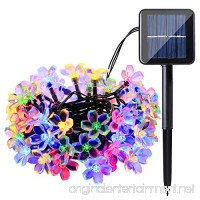 Qedertek Solar String Lights 22ft 50 LED Waterproof Cherry Blossom Solar Flower String Lights for Indoor/Outdoor Patio Garden Xmas Holiday Festivals Decorations (Multi-color) - B0135OVTYS