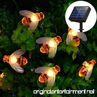Semintech Solar String Lights with 20LED Outdoor Waterproof Simulation Honey Bees Decor for Garden Xmas Decorations Warm White - B0752PLTCH