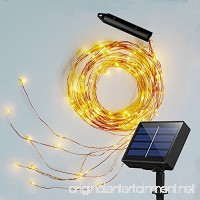 Soltuus Solar 120 LED String Fairy Lights  Starry Copper String Lighting  Waterproof Watering Can Light  Solar Powered Firefly Moon for Plants Tree Vines Decorations  Warm White - B07FBRKX9R