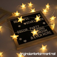 Star Lights String  Battery Operated LED Star Lights  40 Warm White Decorative Stars for Wedding  Birthday  Holidays  Rooms  Indoor or Outdoor  16.4 FT - B078RKLDVV