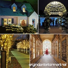 VMANOO Solar Christmas Lights 72 Feet 22 Meter 200 LED 8 Modes String Lights Waterproof Fairy Xmas Lights for Outdoor Indoor Wedding Holiday Party Thanksgiving Day Decorations 2 Pack (Warm White) - B0749LS3Q8