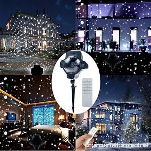 ALWOA LED Snowfall light Rotatable Snowflake Projector Lamp Specially Designed Waterproof Landscape Decoration Li - B0749KQ9X4