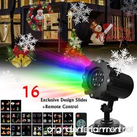 AMILE Holiday Projector Light Rotating Light with 16PCS Switchable Lens for Easter  Birthday  Wedding  Party Christmas  Halloween  - B074KF1R9M
