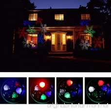 B-right Moving Christmas Snowflake Projector Lights 6 LEDs Landscape Projector Light for Indoor/Outdoor Wall Decoration Party Light Christmas Light - B017U6D7WO