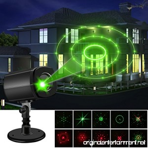 Christmas Laser Lights Outdoor Projector lights Auto-Timer Waterproof Red and Green Laser Light Energy-saving Creating a Twinkling Star World Show Garden Spotlight For Xmas Holiday Party Landscape - B075M5L73Z