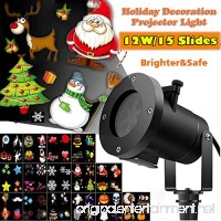 Christmas Led Projector Lights  Newest Version 12W 15 Slides Bright Waterproof Landscape Led Projector Spotlight Show for Thanksgiving Day  Holiday  Garden  Party Decoration Celebrations  Projection H - B075JB2VM3