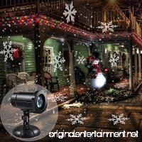 Christmas Light  HONGGE LED Moving Snowflakes Projector Light Party Light with Waterproof IP65 for Holiday  Garden  Indoor/Outdoor  Home Decor  Wall Decoration. - B075FR3Q5T