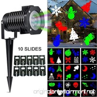 Christmas Light Projector LOHASLY Rotating Night Light Projector Snowflake Spotlight 10 Slides Multi Dynamic Lighting Landscape Led Projector Light Show for Halloween Party Multi - B01MSULG5L