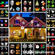Christmas Lights HONGGE LED Projector Light with 18 Switchable Patterns Waterproof Spotlight Night Light for Christmas Indoor and Outdoor Halloween Party Birthday Holiday Landscape Decorations. - B075FVSWWM
