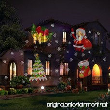 Christmas Lights Projector 18 Moving Slide Shows Snowflake Star Holiday Shower Projector Outdoor Party Slide Show Projection Lighting for Xmas Halloween Birthday Party Decorations - B077RVBGZS