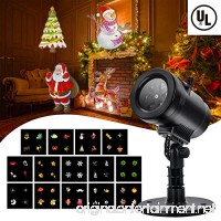 Christmas Party LED Projector Light- Tunnkit 14 Switchable Slides/Patterns Decorative Light for Any Holiday 4 Speed Modes IP65 Waterproof Timing Function Thermal Module - B07545R9TL