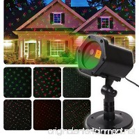 Christmas Projector Lights-12 Pattern IP65 Waterproof Outdoor Projection Lights for Christmas Halloween Holiday Party and Various Parties with Different Atmosphere(Black-2) - B07715X5KS