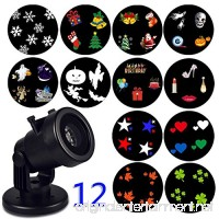Christmas Snowflake Decoration Outdoor Projector Light Holiday Garden Light Rotating Project Lamp LED Landscape Moving Lights with 12 pcs Switchable Slides for Outdoor & Indoor - B075DXSSX6