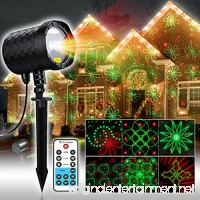 COOWOO 20 Patterns Laser Lights  Red&Green Landscape Industrial Grade Laser Light with RF Remote Control for Halloween Thanksgiving Christmas Holiday Decorations - B01K1TE348
