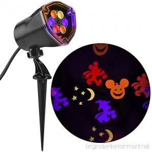 Disney Mickey Multi-Function Red/Orange/Purple/Green Led Multi-Design Halloween Outdoor Stake Light Projector - B075CTNLXS