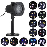 Eyourlife 12 Slides LED Projector Lights  IP65 Waterproof Christmas Projector Lights Ideal for Indoor and Outdoor Decoration  St Patricks Day  Holiday  Party  Home  Garden - B0774MPYYW