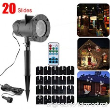 Holiday Led Projector Lights with 20pcs slides for Father's Day Projector Light Outdoor with 20 Switchable Patterns Halloween Light Projector Waterproof Light Projector Outdoor for holiday party - B0773RVHDJ