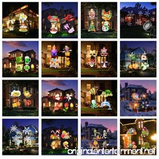 Holiday Light Projector LED Projector Lighting Landscape Spotlight Upgrade 16PCS Pattern Remote and IP65 Waterproof Xmas Projector Landscape Lighting Lamp for Christmas Valentines Party Dec - B076ZGZHYR