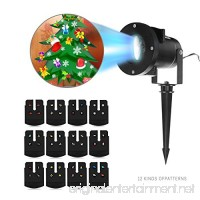Holiday Projector Lights  Komost LED Projector Lights with 12 Switchable Patterns  Indoor and Outdoor for Holiday Lanscape Decoration - B075M8N1KL