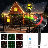 Laser Christmas Lights ALPULON Red and Green Star Projector Waterproof Moving Star Laser with RF Wireless Remote and 8 Lighting Modes for Christmas Holiday Party Landscape and Garden Decoration. - B075FWGCS3