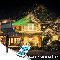 Laser Christmas Lights  InnooLight Outdoor Christmas Laser Lights Show  Red and Green Starry Christmas Lights Projector  Laser Holiday Lights with RF Remote for  Outdoor  Garden  Halloween Decoration - B07411NGKW