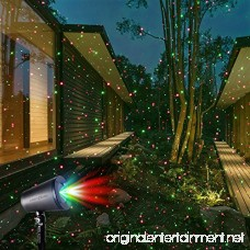 LaserXplore Laser Christmas Lights Red and Green Star Projector Moving Star Laser with 7 Lighting Modes for Christmas Holiday Parties Landscape and Garden Decorations - B073RFL9SY