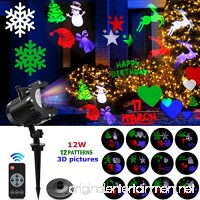 Led Projector Light  2018 Bright & Anti Fading Version Led Outdoor Indoor Projection Lights Show With 12 Slides Dynamic Lighting Waterproof For Valentine'S Day  Birthday  Party Decor - B075QFNV9B