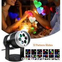 LED Projector Light Birthday Gifts for Kid- Rotating Wall Projection LED Lights Spotlights with 12PCS Switchable Pattern Lens for Wedding Party Wall Kids Room Home Decor - B074SLDT87