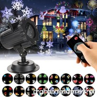 LED Projector Lights  KOLIER Landscape Spotlight with Interchangeable 16 Slides Waterproof Holiday Projector Light with Remote Control for Party / Birthday - B076D9P7DV