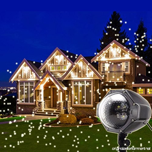 LED Snowflake Projector Lights Christmas Projector Outdoor Snowfall LED Lights Indoor Outdoor Christmas Snowflake Decorations Holiday ...