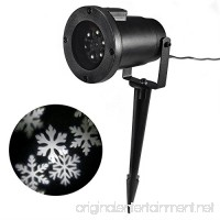 Myhome LED Christmas Light  4W LED Moving Snowflake Spotlight  Dynamic Landscape Projector Light Lamp  Party Light for Holiday  Garden House Indoor/Outdoor Decor–Waterproof and Fun Toys for Children - B01N3P5S05