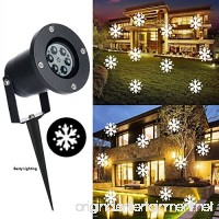 Outdoor Chritsmas Decorations LED Snowflake Projector Lights White Holiday Snowfall Waterproof Landscape Lights for Halloween Garden House Party Wedding Lawn Disco Xmas Decorations - B075WNGJRS