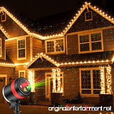 SKONYON Christmas Laser Lights Show Red and Green Star IP65 Waterproof Outdoor Laser Light Projector Lightswith Remote for Christmas Holiday Party Landscape and Garden Outdoor Decorations - B07416PK5Q