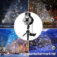 Snowfall Outdoor Led Christmas Lights Displays Projector Show Waterproof Rotating Projection Snowflake Lamp - B07DM8PF5B
