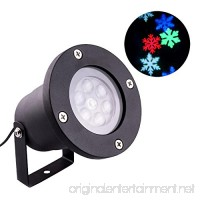 Snowflake Light Projector  Coidak 12W Super Bright Waterproof Aluminum LED Projector  Moving Multicolor Snowflakes for Decoration Lighting on Christmas Halloween - B076ZDNH9P