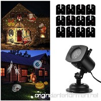 SOLLED Light Projector  Christmas LED Landscape Projection with 12 Patterns for Outdoor  Garden  Holiday  Party - B075V4HXWB