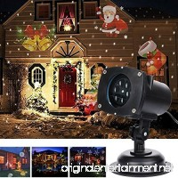 TD Design Halloween Decoration 12 Switchable Themes Landscape Projector Star Light Kids Night Light Waterproof LED Spotlight Wall Light for Outdoor Indoor and Lawn  Christmas Light  Star Projector - B01J5C04CC