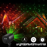 TEC.BEAN 24 Patterns Christmas Landscape Lights  Galaxy Star Projector Lights Auto Timer Outdoor Rotating Waterproof Light for Halloween Christmas Decoration Stage Light Party Holiday(Red-Green) - B073ZDNTPP