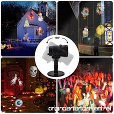 TOFU Holiday Lights Projector LED Waterproof Star Rotating Snowflake Motion Shower Landscape Projection Slide Show Lighting Display for Holiday House Garden Birthday Halloween Party Xmas Decorations - B0768VD5FJ