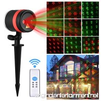 Viugreum Christmas Party LED Projector Light with IR Wireless Remote 12pcs Switchable Pattern Garden Landscape Spotlight IP65 Waterproof Decoration Light for Holiday Birthday Wedding Party Halloween - B076JC6NP2